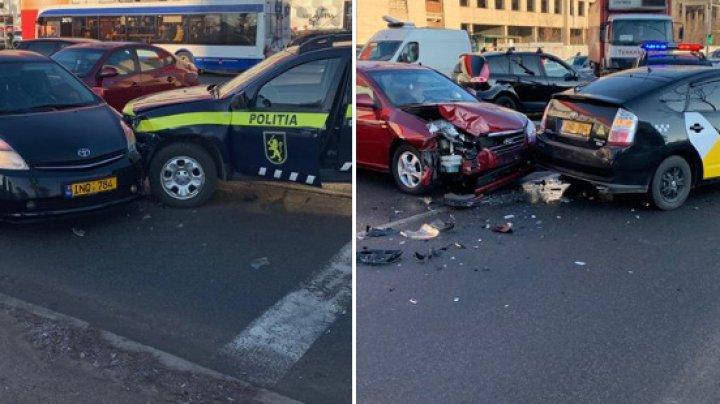 Цепное ДТП в столице с участием машины полицейских (ФОТО)