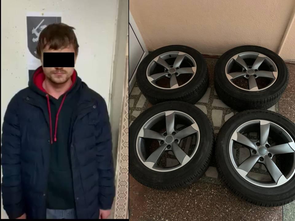 В Кишинёве задержали мужчину, укравшего колёса с автомобиля (ВИДЕО)