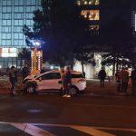 ДТП в центре столицы: машина врезалась в забор (ФОТО, ВИДЕО)