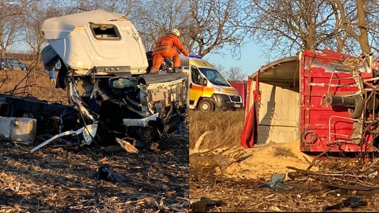 Страшная авария в Бельцах: колесо грузовика взорвалось на ходу (ФОТО)
