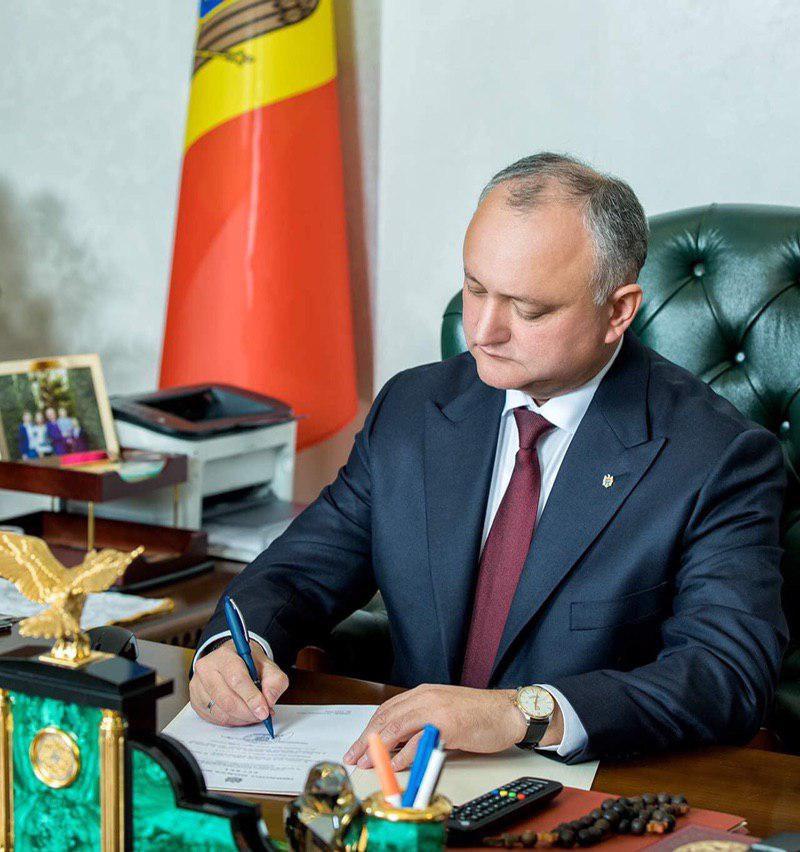 Игорь Додон поздравил дипломатов с их профессиональным праздником