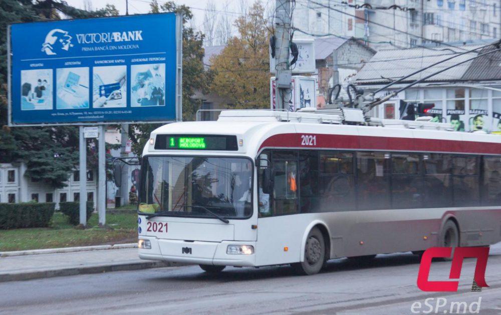 В Бельцах меняется маршрут городского троллейбуса