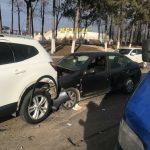 Цепная авария произошла на въезде в столицу (ФОТО)