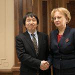 Гречаный обсудила с послом Японии сотрудничество двух стран