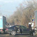 Автомобиль получил повреждения в ДТП на Петриканах (ФОТО)