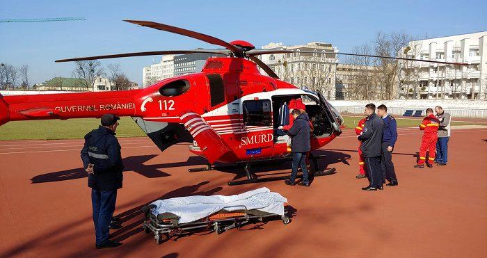 Экипаж SMURD доставил в Кишинёв жительницу Бельц, пострадавшую в аварии (ВИДЕО)