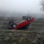 Не справился с управлением на скользкой дороге: в Дубоссарах водитель вылетел в кювет (ФОТО)