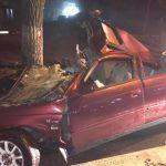 В столице пьяный водитель врезался в дерево: двое пассажиров в больнице (ФОТО)