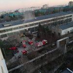 """В здании завода """"Мезон"""" произошел еще один пожар (ВИДЕО)"""