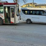 ДТП в Бельцах: столкнулись микроавтобус и троллейбус (ФОТО)