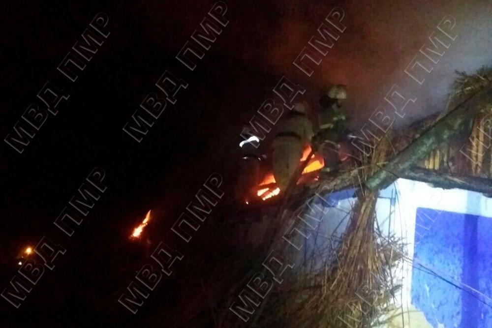 Короткое замыкание стало причиной пожара в доме жителя Слободзеи