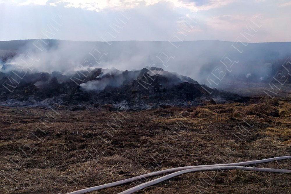 В Григориопольском районе ликвидировали пожар на ферме (ФОТО)