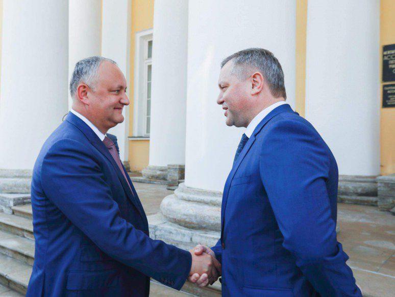 Генеральный секретарь Совета МПА СНГ поздравил Додона с 45-летием