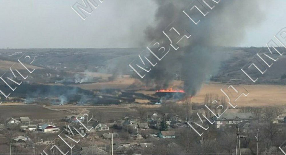 Пожарные боролись с возгоранием камыша в Дубоссарах