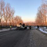 В Тараклии перевернулся автомобиль: водитель попал в больницу