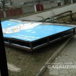 Шквалистый ветер в Комрате повредил крыши и снёс рекламный щит (ВИДЕО)