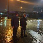 Ион Чебан проинспектировал улицы ночью во время дождя