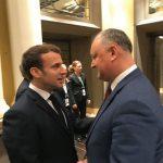 Додон пригласил Макрона совершить визит в Молдову
