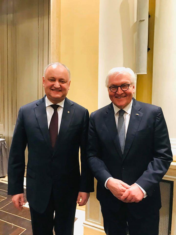 Встреча Додон – Штайнмайер: о чем говорили президенты Молдовы и Германии