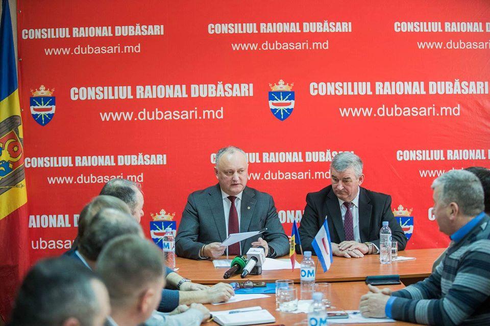 Президент встретился с руководством Дубоссарского района (ФОТО)