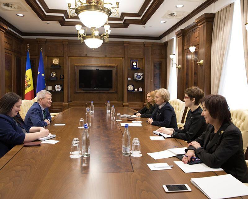 Гречаный встретилась с новым послом Ирландии в Молдове (ФОТО)