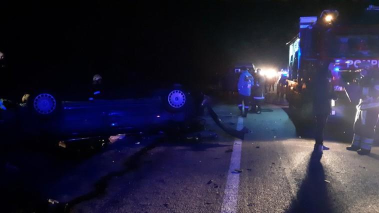 ДТП в Ставченах: автомобиль перевернулся на крышу