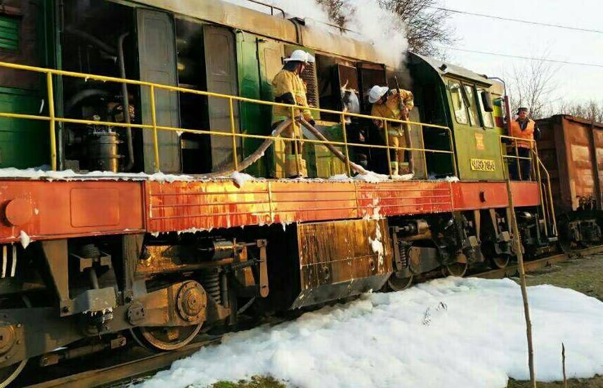 В Рыбнице на ходу загорелся локомотив