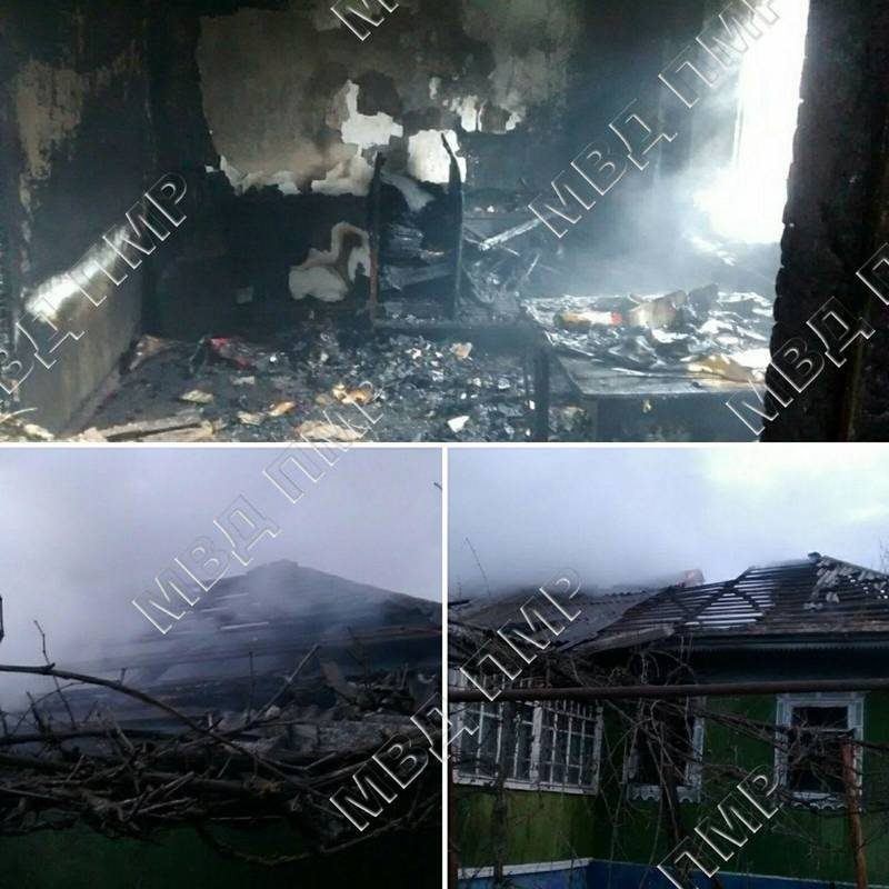 В Рыбницком районе загорелся дом: есть погибший