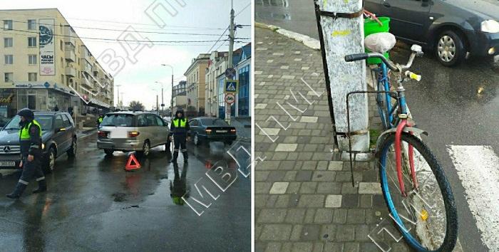 В Тирасполе невнимательный водитель сбил велосипедиста