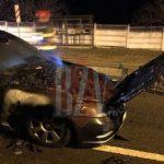 Машина с молдавскими номерами загорелась на ходу в Румынии