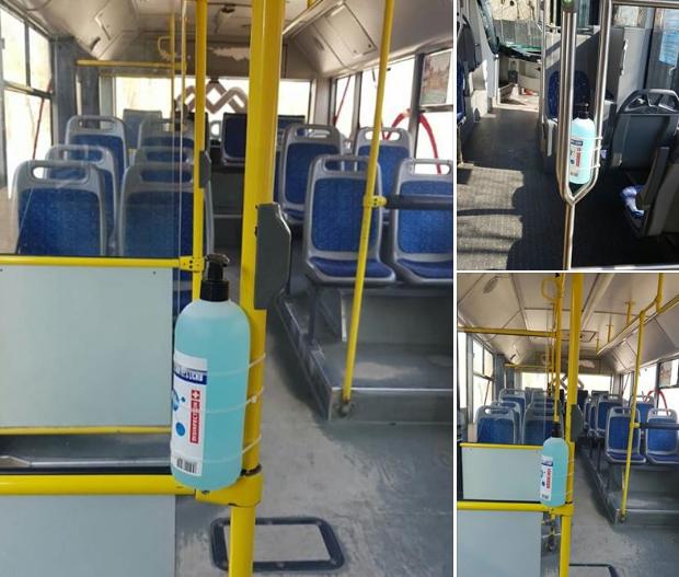 В кишинёвских автобусах стали появляться дозаторы с дезинфектантами для пассажиров (ФОТО)