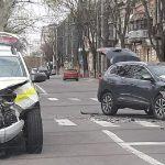 ДТП с участием полицейской машины произошло в центре столицы