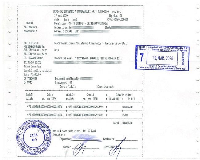 Фракция ПСРМ внесла свой вклад в фонд помощи в борьбе с коронавирусом