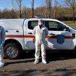 Спасатели через громкоговорители призывают граждан соблюдать карантин (ФОТО)