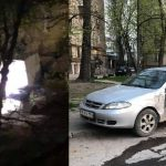 При попытке угнать брошенное авто злоумышленники повредили ещё три машины (ФОТО)