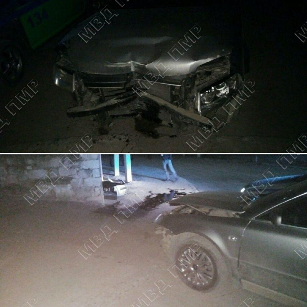 Не вписался в поворот: в Григориополе нетрезвый водитель врезался в забор