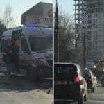 У Института матери и ребёнка случилась авария: на место прибыла скорая помощь