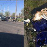 На Чеканах легковушка сбила мотоциклиста (ФОТО)