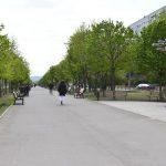 Стартовал ремонт главной аллеи на Чеканах (ФОТО)