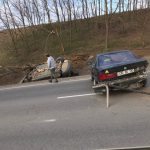 В Магдачештах в результате ДТП перевернулось авто (ФОТО)