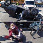ДТП в Тирасполе: водитель превысил скорость, не вписался в поворот и перевернулся