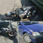 Невнимательный таксист сбил мотоциклиста