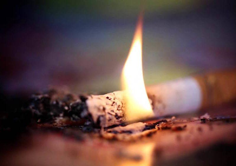 Мужчина погиб при пожаре из-за непотушенной сигареты