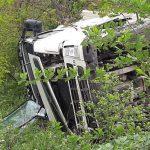 ДТП в Аненах: грузовик вылетел в кювет и перевернулся