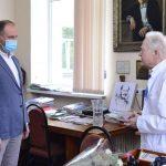 Ион Чебан поздравил академика Георгия Палади с днём рождения (ФОТО)