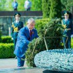 Игорь Додон принял участие в церемонии захоронения останков советских воинов на Шерпенском плацдарме (ФОТО, ВИДЕО)