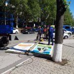 Снос незаконных строений и рекламных панно в Кишиневе возобновился (ФОТО)