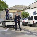 Примария получила в дар от экономического агента 8 моек высокого давления для уборки тротуаров