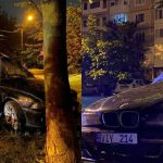 """(ОБНОВЛЕНО) Машина """"в хлам"""": водитель BMW не справился с управлением и врезался в дерево (ФОТО)"""