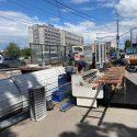 В столице продолжают эвакуировать незаконные конструкции (ФОТО)